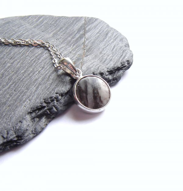 Striped Natural British Gemstone Pendant