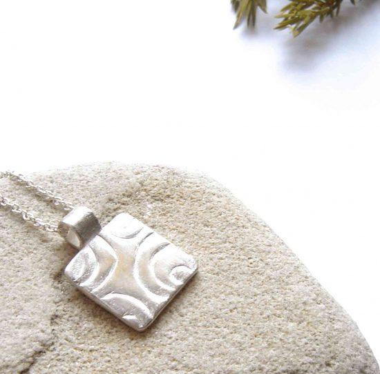Contemporary Geometric Silver Pendant