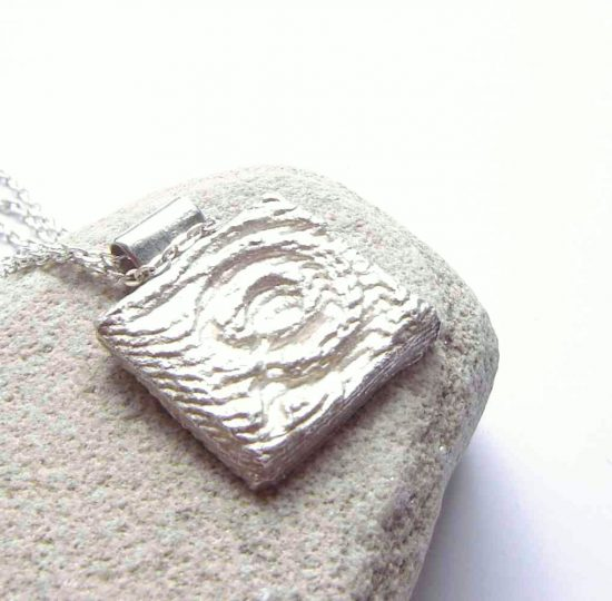Cup and Ring Stone Inspired Silver Pendant