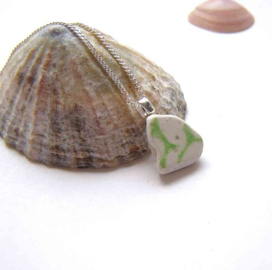 English Sea Ceramic Necklace from Northumbria Gems