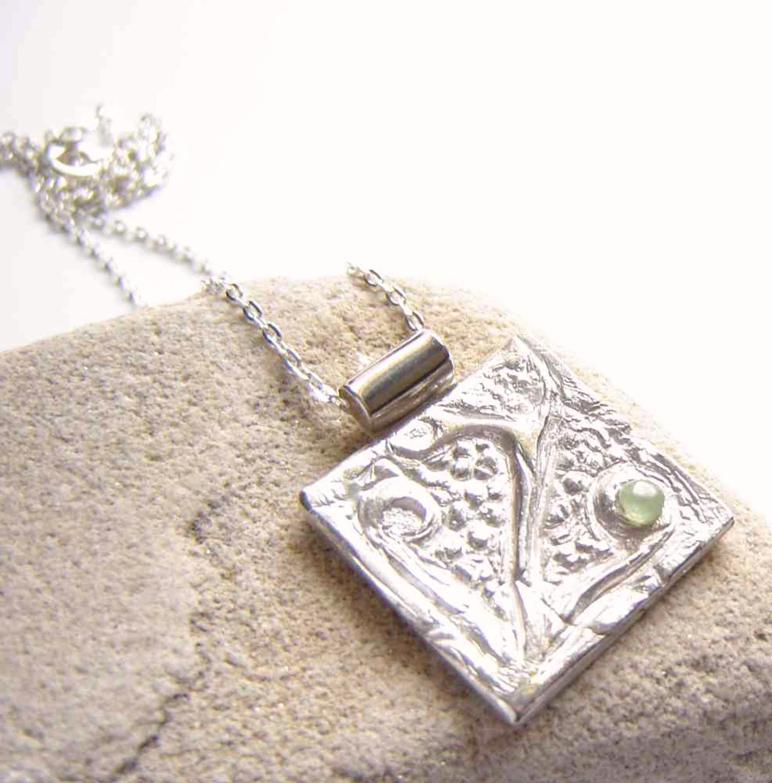 Silver jewellery, designed and handcrafted design in north-east England
