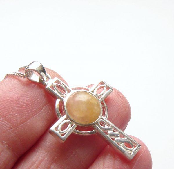 atural British Carnelian Gemstone Cross