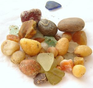 British gemstone and Northumbrian sea glass collected by hand