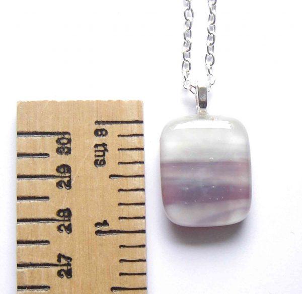 Purple Banded Fused Glass Pendant