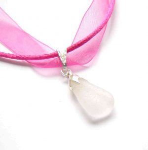 Sea Glass Ribbon Necklaces