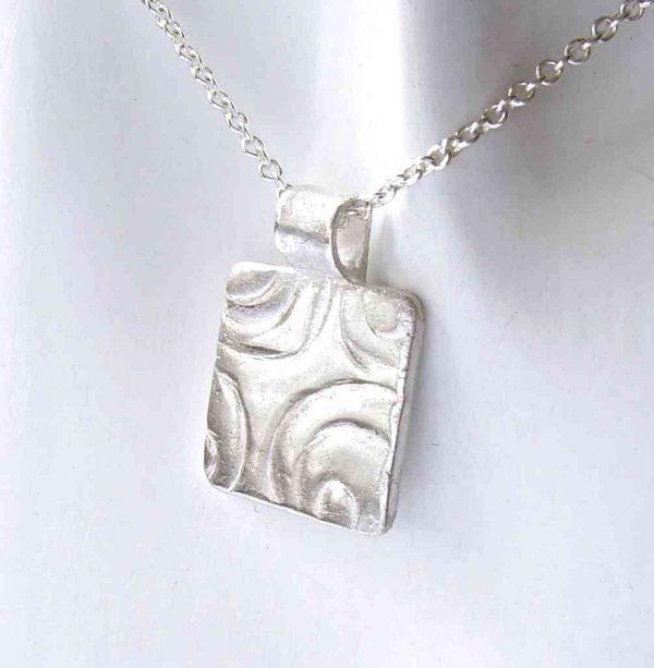 Contemporary Geometric Silver Pendant