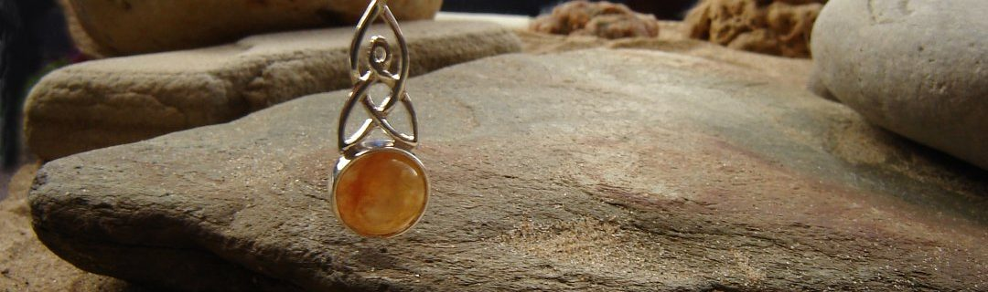 A Celtic Pendant in natural British Carnelian