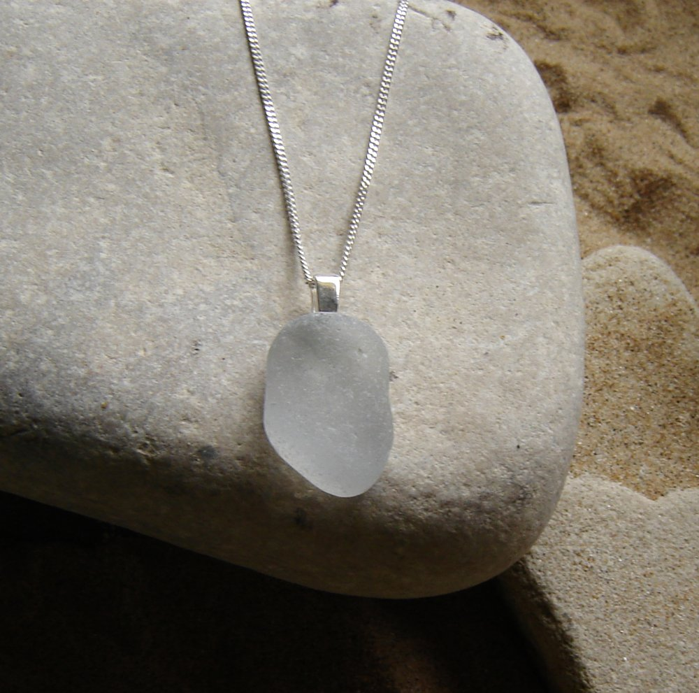 Large grey sea glass pendant northumbria gems large grey sea glass pendant aloadofball Choice Image