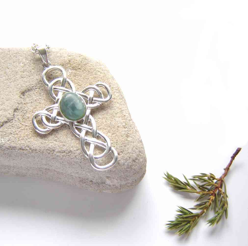 Natural Stone Cross Necklaces