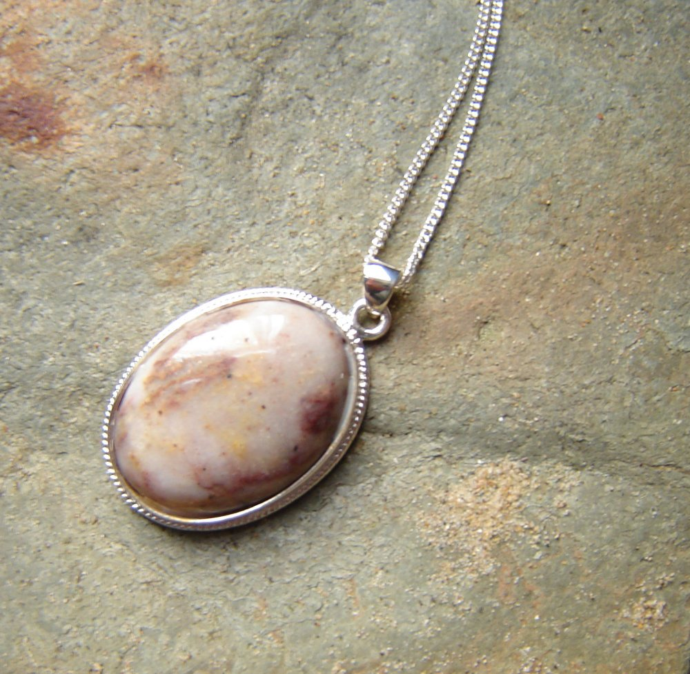 circle product pendant original by jade and decadorn necklace mini natural jasper