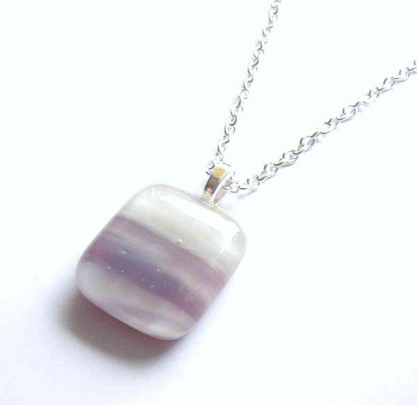 Purple Banded Glass Pendant
